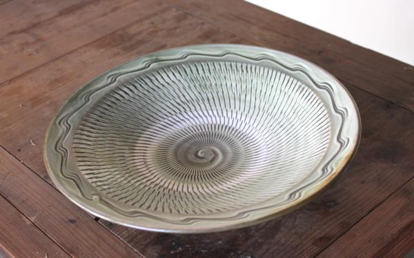 小鹿田焼 9寸皿