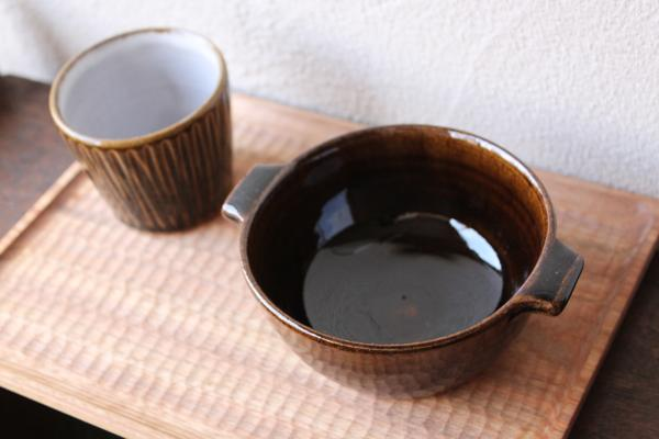 延興寺窯 両手碗