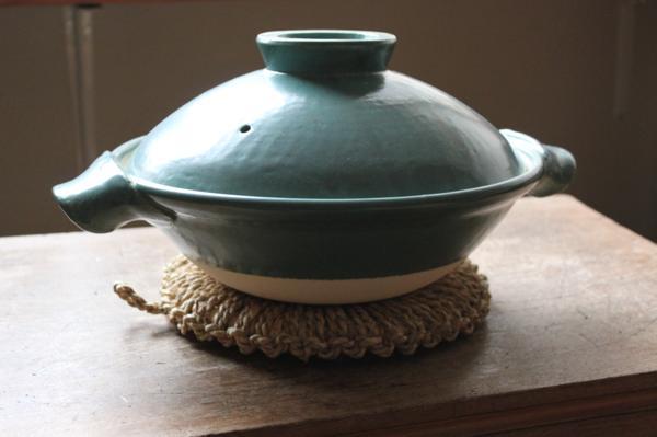 伊賀の土鍋と佐渡の鍋敷き
