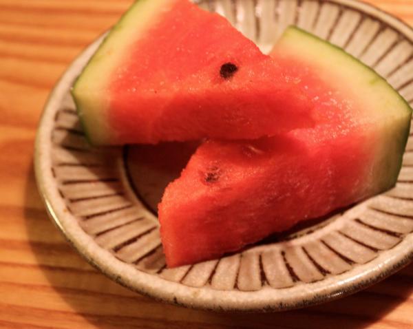 福田るいさんの5寸皿とスイカ