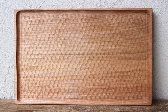 くるみの木のトレー 40 x 30cm