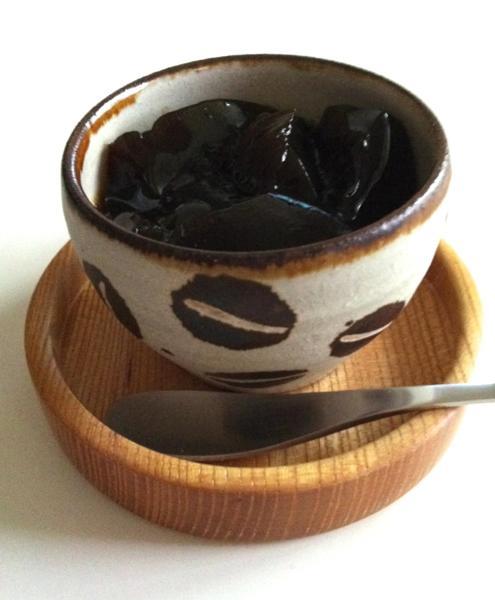 工房十鶴・丸湯呑みとコーヒーゼリー