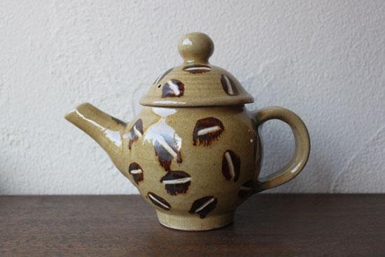 工房十鶴 コーヒー豆柄ポット