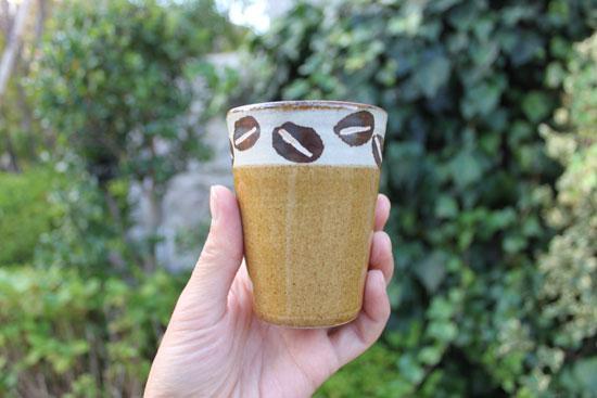 工房十鶴 コーヒー豆柄のカップ