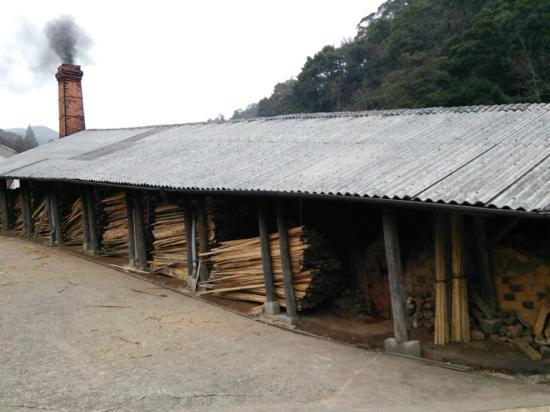 小鹿田焼 窯焼き