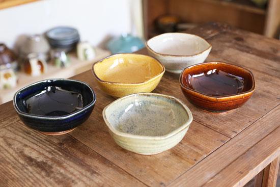 まゆみ窯 六角深鉢