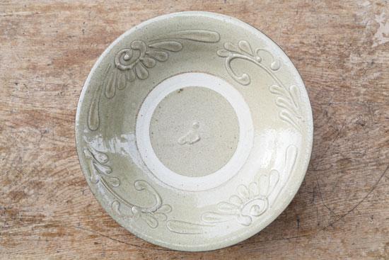 北窯 白イッチン 9寸皿