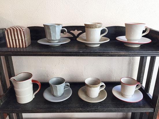 牧谷窯のカップ&ソーサー