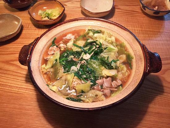 伊賀の土鍋ともつ鍋