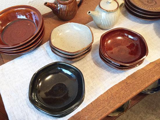 まゆみ窯の六角鉢