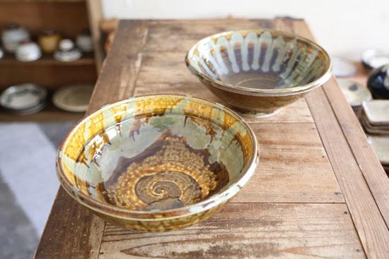 小鹿田焼 柳瀬朝夫 大きな鉢