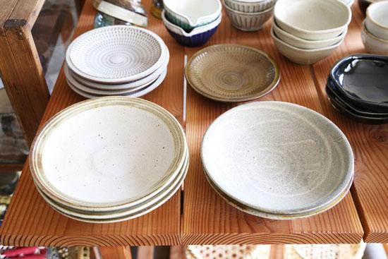 まゆみ窯の7寸皿