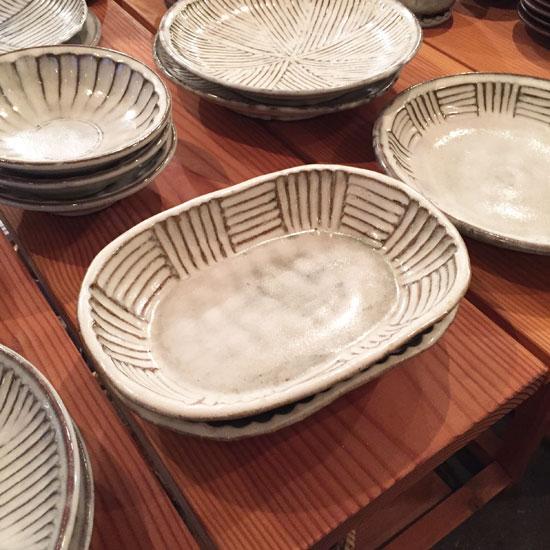 坂西康俊 大きな楕円鉢