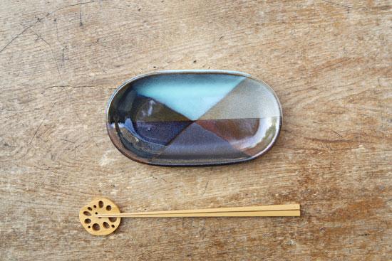 小石原焼 楕円皿