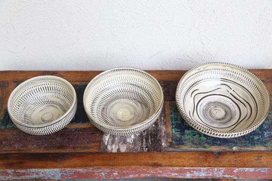 小鹿田焼の鉢