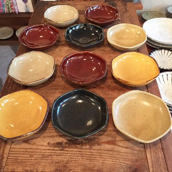 まゆみ窯 六角鉢