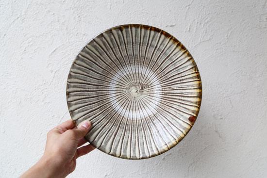 小鹿田焼のお皿