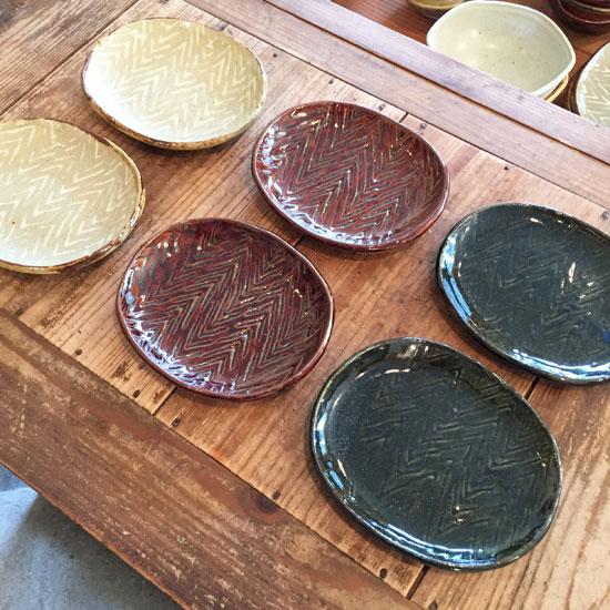 まゆみ窯 楕円皿